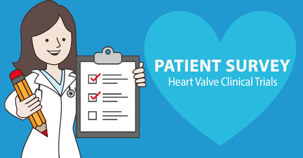 Nurse Holding Clipboard with Heart Valve Clinical Trial Survey