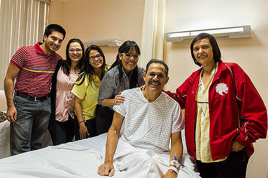 Leonel Pirchardo With Family Before Surgery