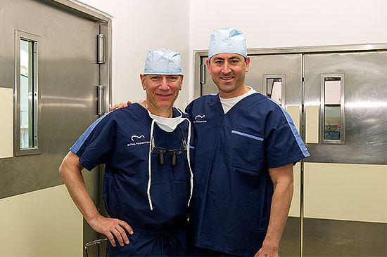 Adam Pick with Dr. David Adams on Dominican Republic Medical Mission for Mitral Valve Patients