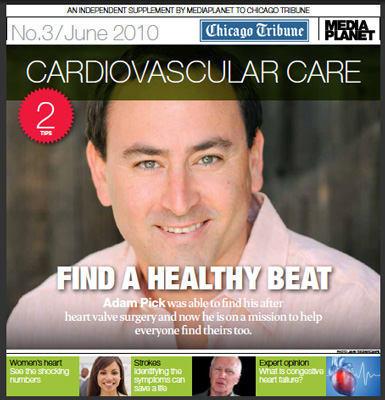 Cardiovascular Care - Adam Pick Featured In Chicago Tribune Supplement