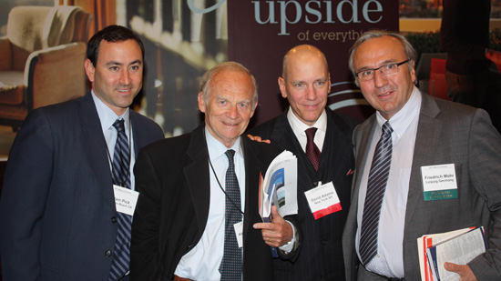 Dr. Alain Carpentier, Adam Pick, Dr. David Adams & Dr. Fred Mohr At Mitral Conclave