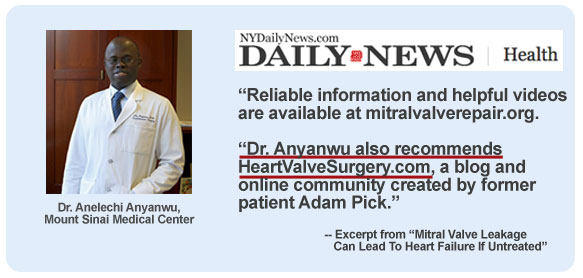 Dr. Anyanwu In The Daily News Talking About HeartValveSurgery.com