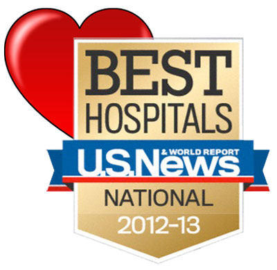 Seal Of US News & World Report For Cardiac Care Centers