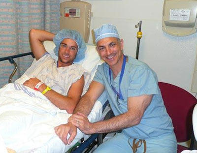 Dr. Mark Bleiweis With Michael Rogers, His Patient