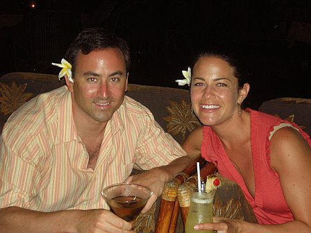 Robyn and Adam Pick On Our Honeymoon in Fiji.