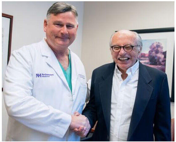Dr. Patrick McCarthy With Heart Surgery Patient