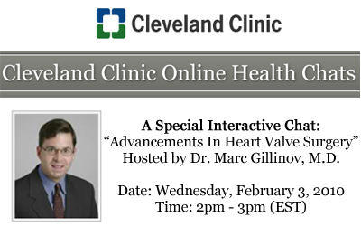 Chat Transcript About Heart Valve Surgery with Dr. Marc Gillinov