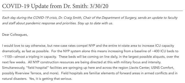 Dr. Craig Smith Blog Post