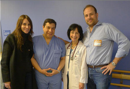 Dr. Pedro Del Nideo With Sarah's Family