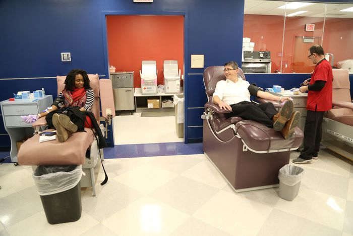 Dr. Eric Roselli Giving Blood During COVID-19
