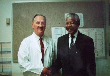 Dr. John Barlow with Nelson Mandella
