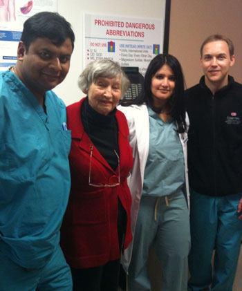 Dr. Saibal Kar With Kato Pomer, MitraClip Patient