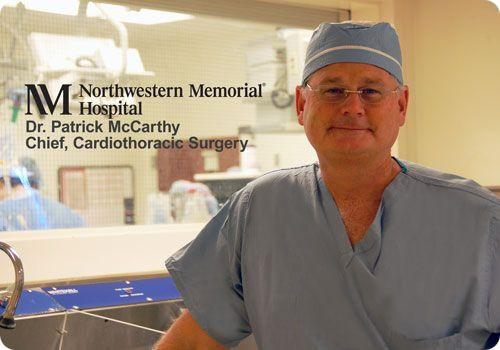 Dr. Patrick M. McCarthy In Front Of Operating Room