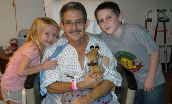 Grandpa In Hospital After Surgery