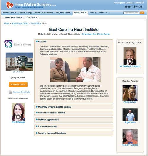 East Carolina Heart Institute - Heart Valve Clinic Microsite