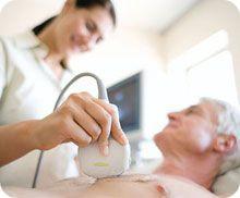 Patient Getting Chest Echocardiogram