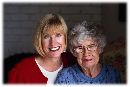 Elderly And Heart Surgery - Mom & Daughter