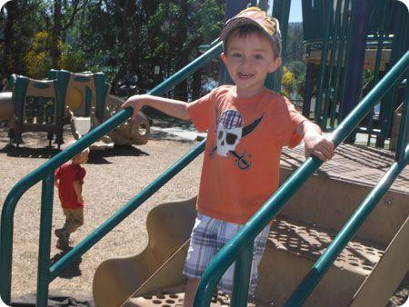 Photo Of Young Boy On Jungle Gym
