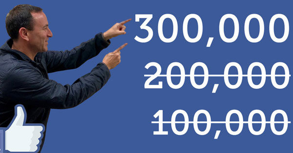 Adam Pick Announcing 300,000 Facebook Members of HeartValveSurgery.com