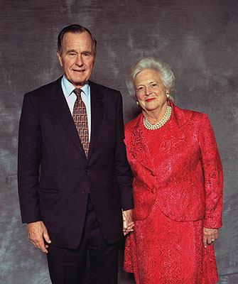 باربرا بوش .... زوجة الرئيس السابق جورج بوش الأب george-barbara-bush.jpg