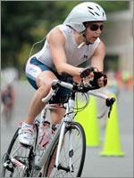 Greg O'Keeffe Races During New York City Triathlon
