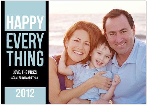 Happy Holidays Card From The Pick Family - 2012