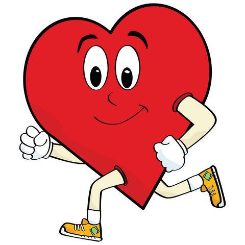 Heart Running Cartoon