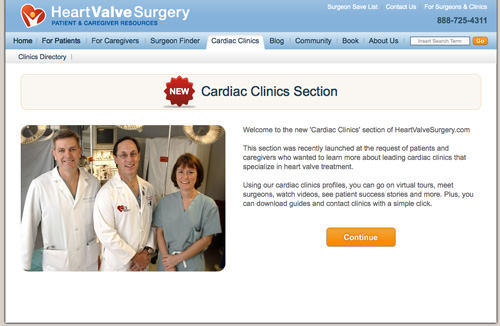 Heart Valve Clinic Section Of Website