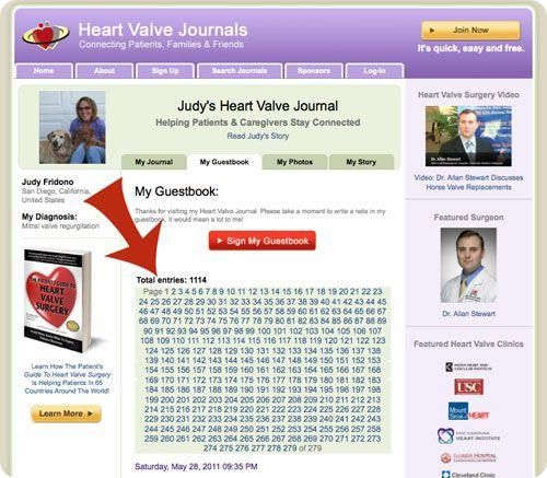 Image of Heart Valve Journal Guestbook