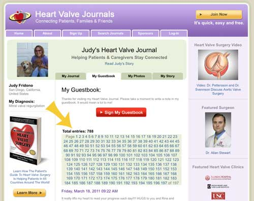 Guestbook Of Heart Valve Journals