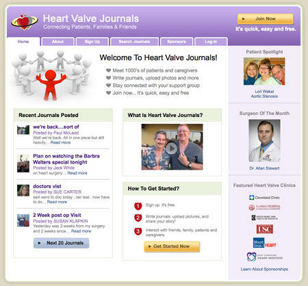 Heart Valve Journals - Social Network For Heart Valve Surgery Patients