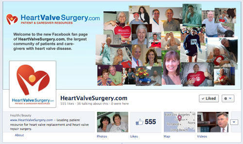 Facebook Fan Page Of Patient Advocacy Website