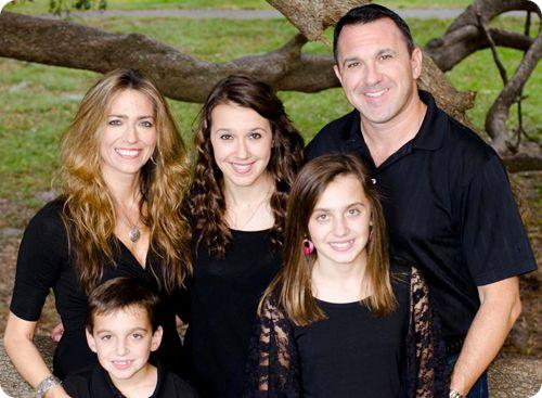 Jeff & Family Dressed In Black