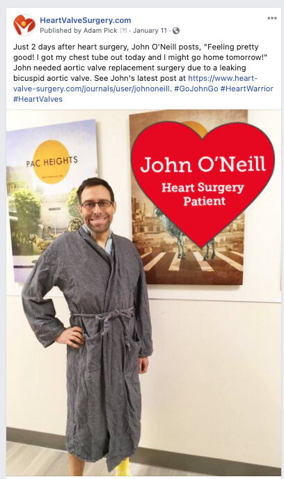 Heart Valve Patient Standing After Surgery