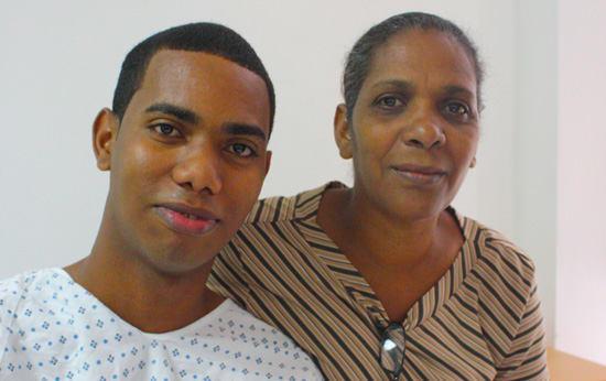 Junior Gonzalez & His Mother
