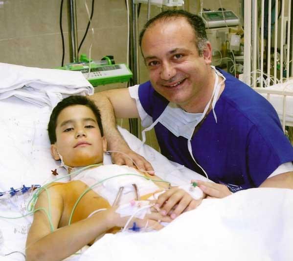 Dr. Afksendiyos Kalangos with Patient