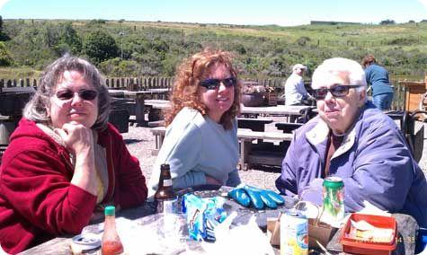 Three Older Women Having Lunch