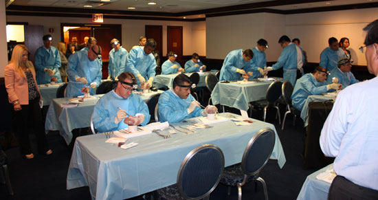 Surgeons Practicing Heart Valve Repair At Wet Lab