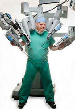 Dr. W. Randolph Chitwood With da Vinci Surgical Robot