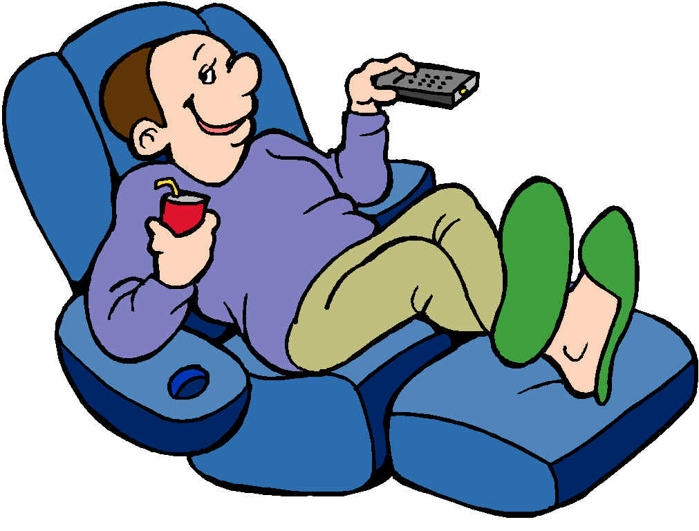 Man On A Recliner With A Remote