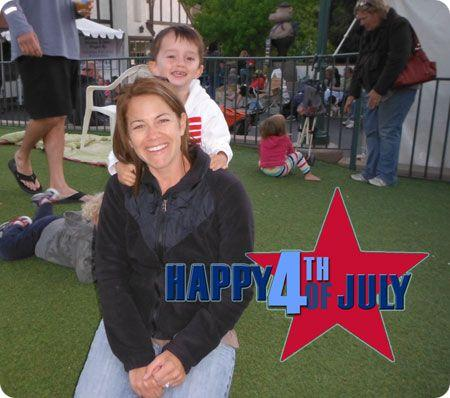 Fourth Of July Picture Of Mom & Son