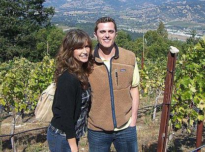 Man & Wife In Wine Fields