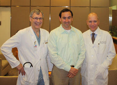 Dr. Paul Stelzer, Adam Pick, Dr. David Adams At Mount Sinai Hospital