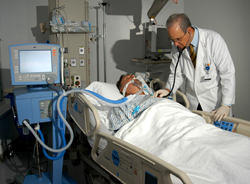 Patient On Ventilator Tube After Cardiac Surgery