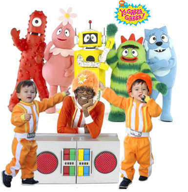 Ethan With His Yo Gabba Gabba Friends