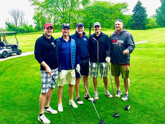 Aortic Valve Patient With Family Playing Golf