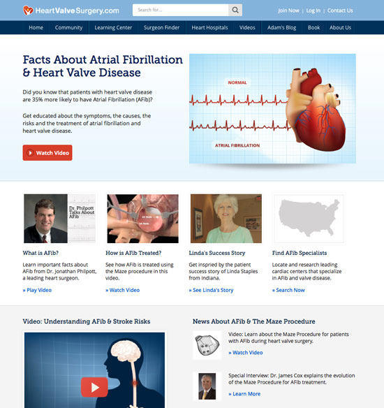 Learning Center: Atrial Fibrillation and Heart Valve Disease