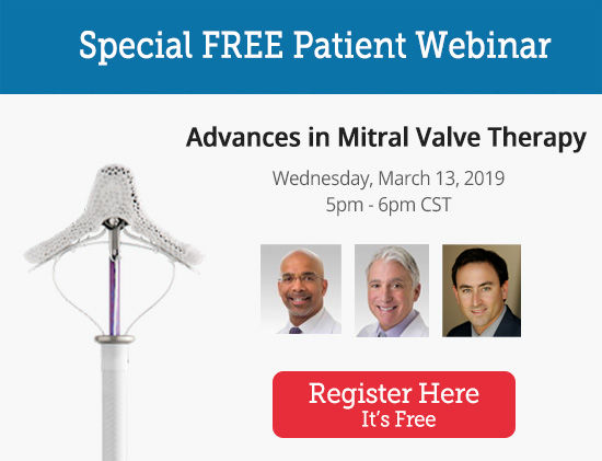 Click To Sign Up For Mitral Valve Therapy Advances Webinar