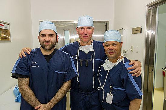 Gideon Sims, Dr. David Adams, Dr. Ricardo Lazala