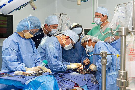 Dr. David Adams Performing Mitral Valve Surgery
